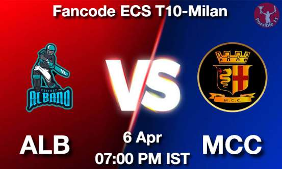ALB vs MCC Dream11 Prediction