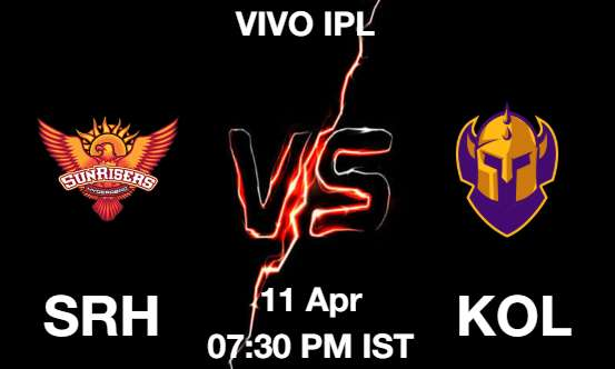 SRH vs KOL Dream11 Prediction