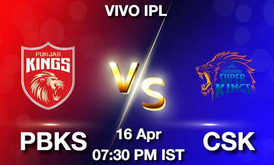PBKS vs CSK Dream11 Prediction