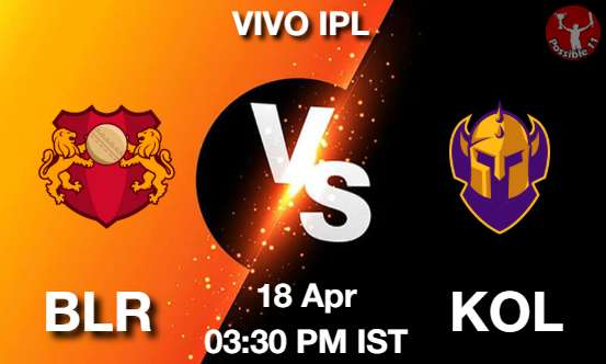 BLR vs KOL Cricket Match Previews
