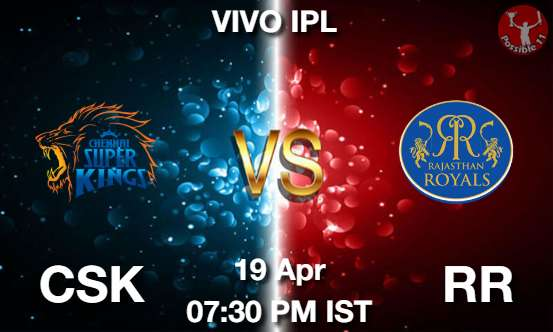 CSK vs RR Cricket Match Previews
