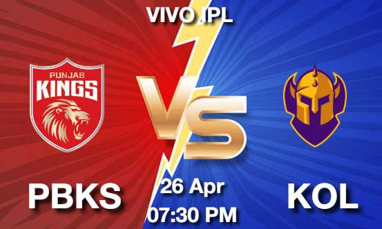 PBKS vs KOL Dream11 Prediction