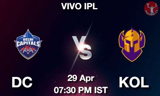 DC vs KOL Dream11 Prediction