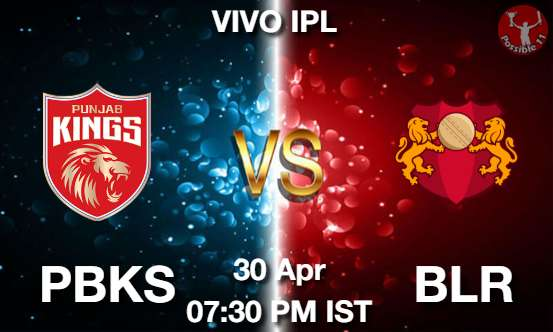 PBKS vs BLR Dream11 Prediction