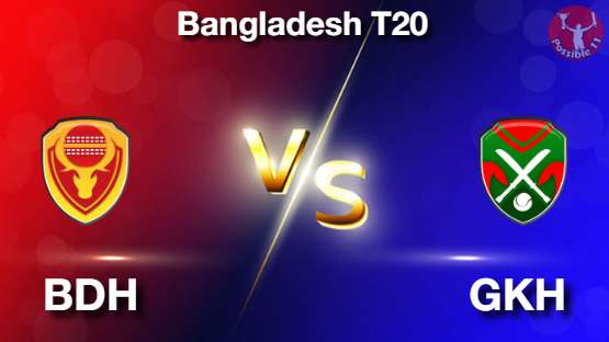 BDH vs GKH Dream11 Prediction