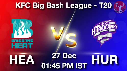 HEA vs HUR Dream11 Prediction
