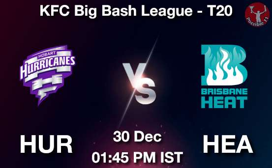 HUR vs HEA Dream11 Prediction