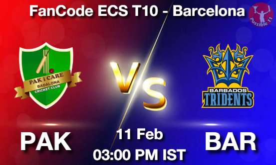PAK vs BAR Dream11 Prediction