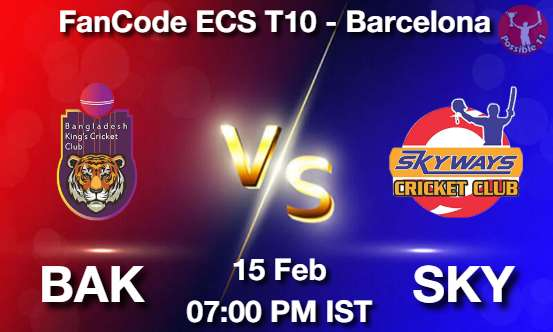 BAK vs SKY Dream11 Prediction