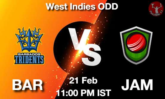 BAR vs JAM Dream11 Prediction