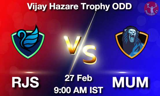 RJS vs MUM Dream11 Prediction
