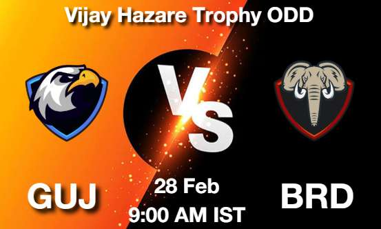 GUJ vs BRD Dream11 Prediction