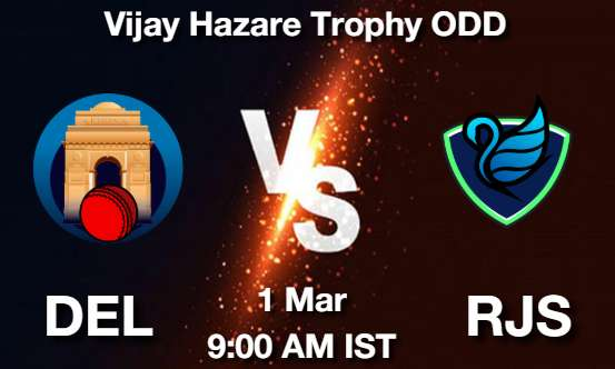 DEL vs RJS Dream11 Prediction