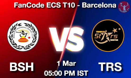 BSH vs TRS Dream11 Prediction