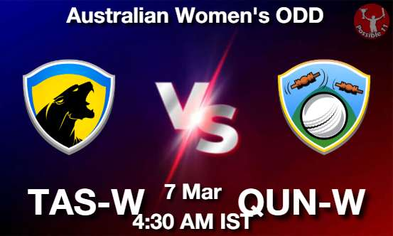 TAS-W vs QUN-W Dream11 Prediction