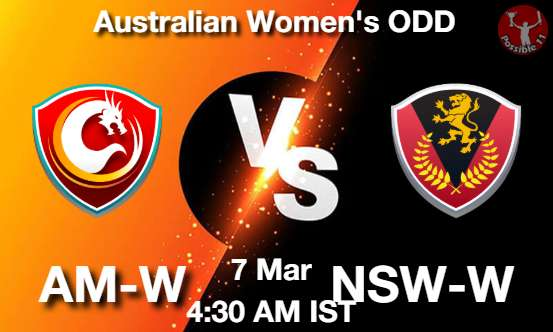 AM-W vs NSW-W Dream11 Prediction