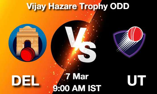 DEL vs UT Dream11 Prediction