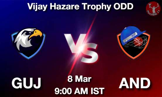 GUJ vs AND Dream11 Prediction