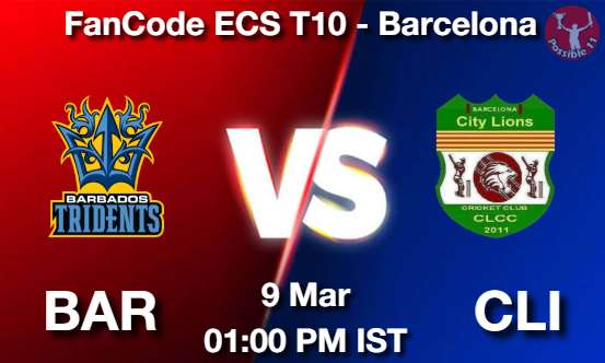 BAR vs CLI Dream11 Prediction