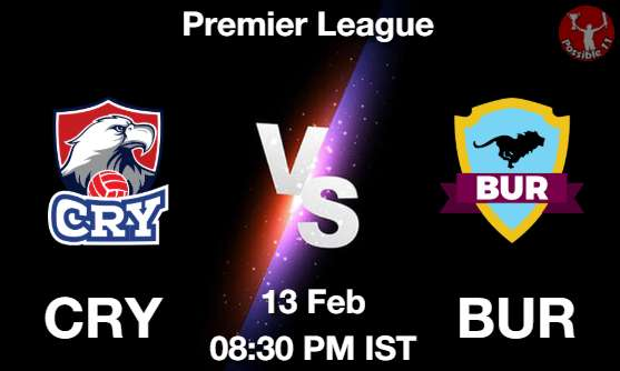 CRY vs BUR Dream11 Prediction