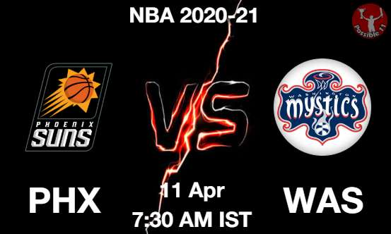 PHX vs WAS Dream11 Prediction