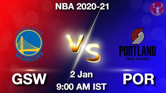 GSW vs POR Dream11 Prediction