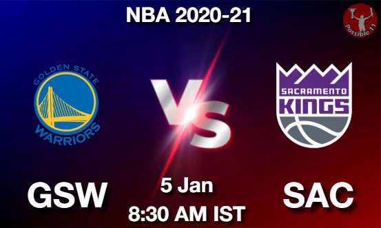 GSW vs SAC Dream11 Prediction