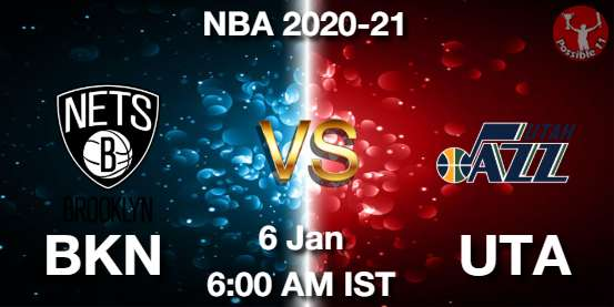 BKN vs UTA Dream11 Prediction