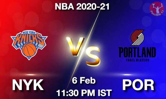 NYK vs POR Dream11 Prediction