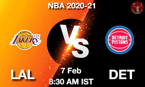 LAL vs DET Dream11 Prediction