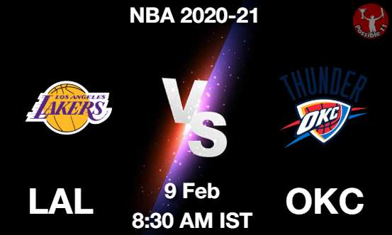 LAL vs OKC Dream11 Prediction