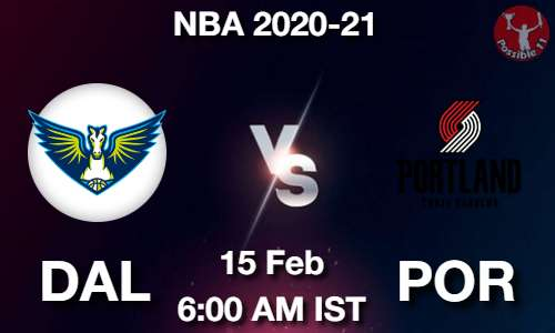 DAL vs POR Dream11 Prediction
