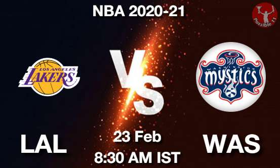 LAL vs WAS Dream11 Prediction