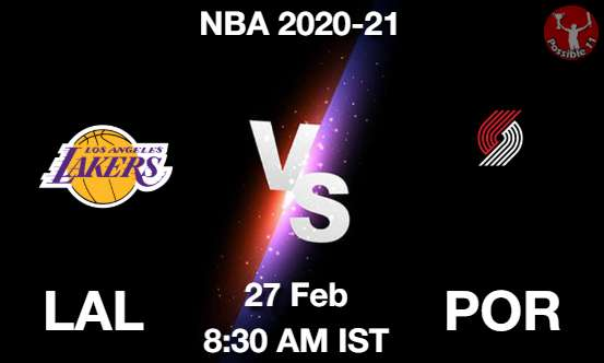 LAL vs POR Dream11 Prediction