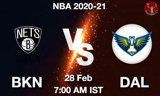 BKN vs DAL Dream11 Prediction