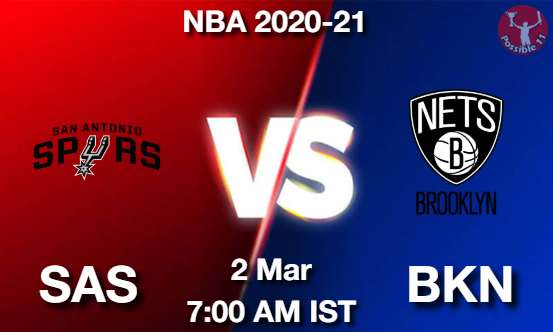 SAS vs BKN Dream11 Prediction