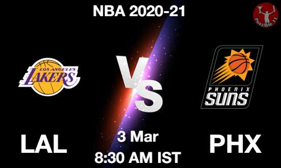LAL vs PHX Dream11 Prediction