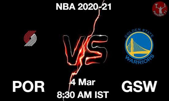 POR vs GSW Dream11 Prediction