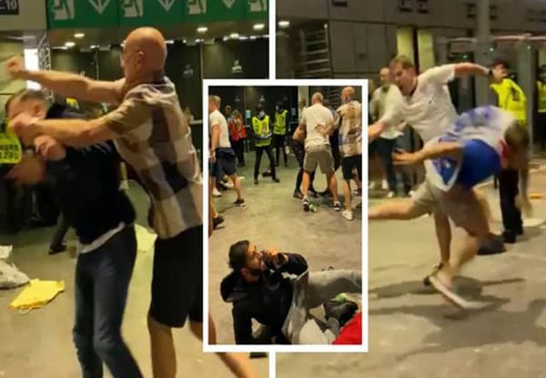 Euro 2020: Watch England fans beating Italian fans after loss in final