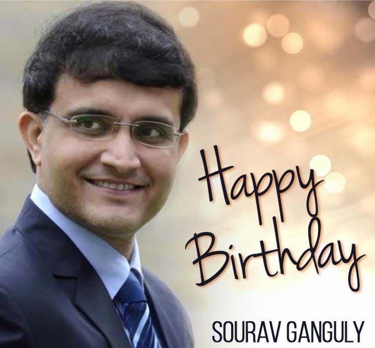 Former India captain Sourav Ganguly celebrates his 49th birthday