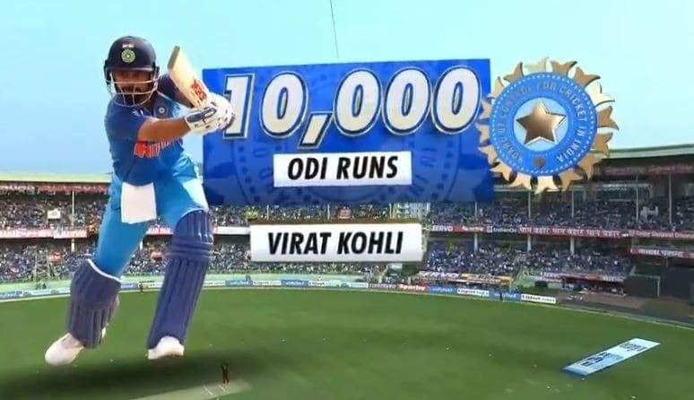 Kohli completes 10,000 ODI runs while batting at No. 3