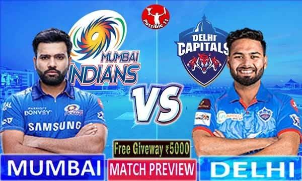 MI vs DC Match Preview, MI vs DC Dream11 Match Prediction, IPL 2021