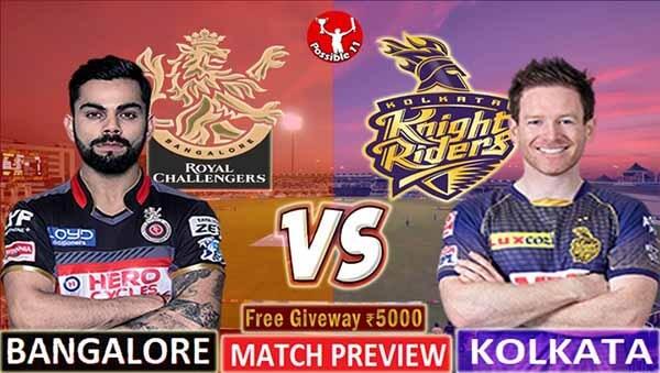 RCB vs KKR Match Preview, RCB vs KKR Match Prediction, IPL 2021
