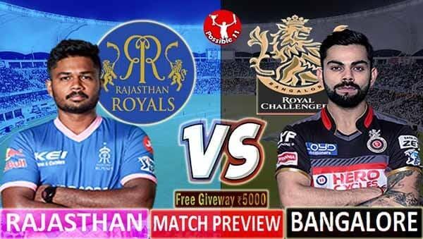 RR vs RCB Match Preview, RR vs RCB Dream11 Match Prediction, IPL 2021